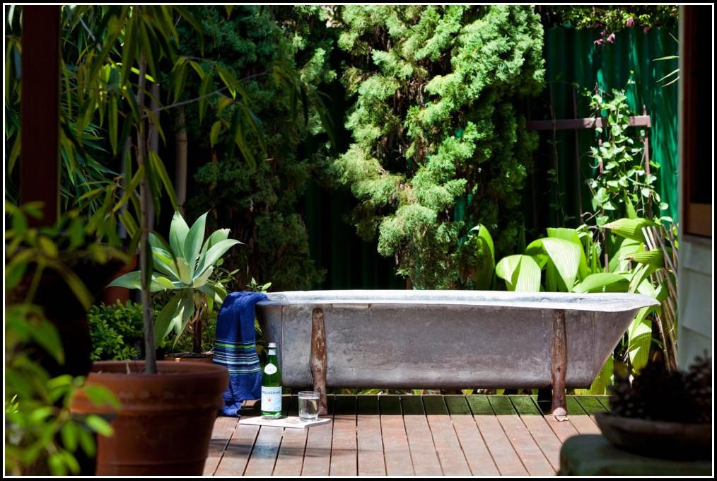 Badewanne Im Garten Bepflanzen