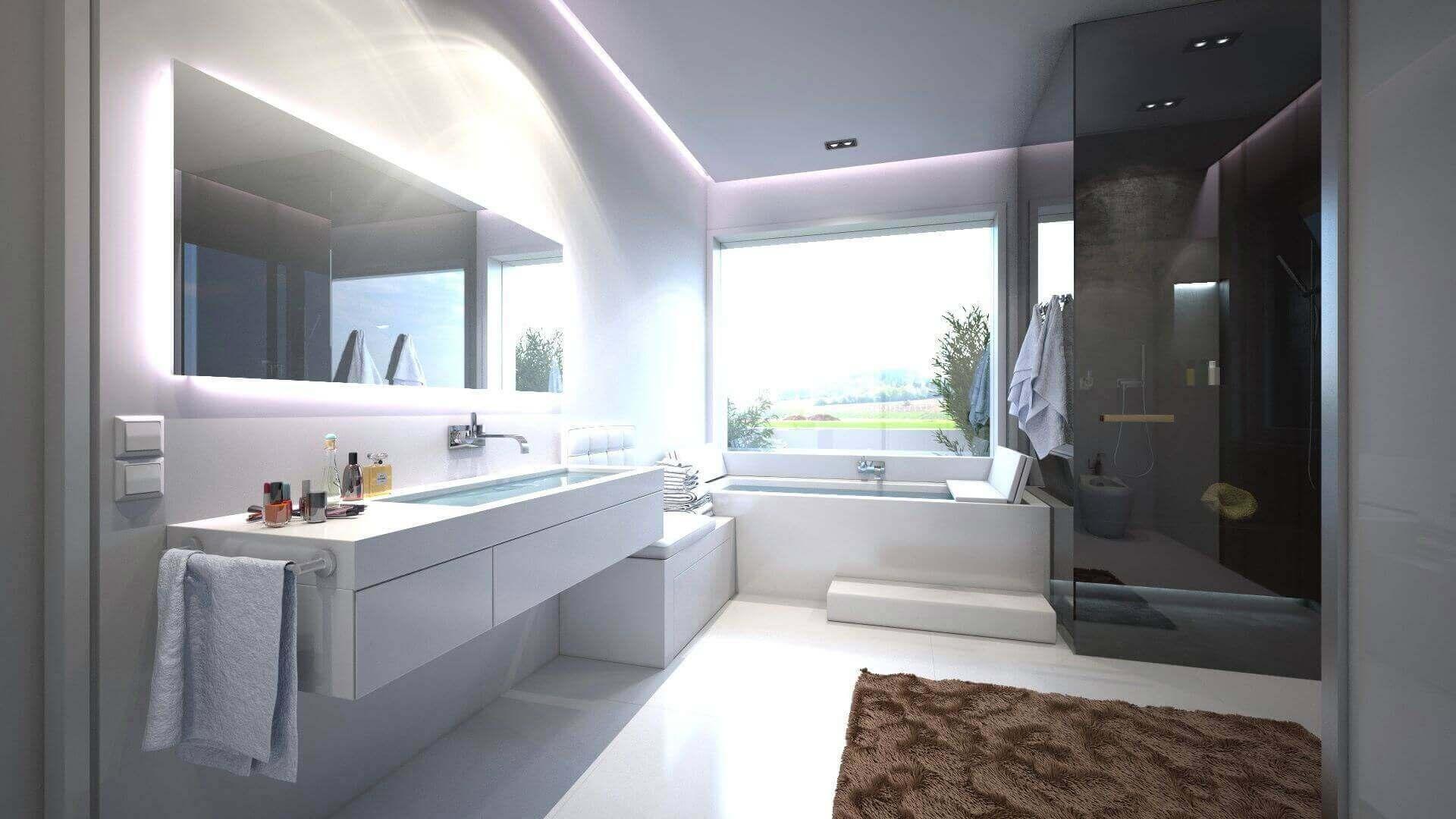 Luxus Badezimmer Schwarz Weiß